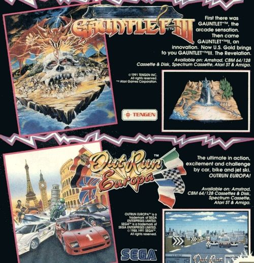 Publicidad de U.S. Gold (1991)